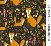 adorable seamless pattern with... | Shutterstock .eps vector #441843784