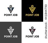 point job logo design template ... | Shutterstock .eps vector #441844750