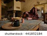 medieval monk | Shutterstock . vector #441852184