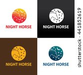 night horse logo design... | Shutterstock .eps vector #441852619