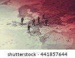 threat of a terrorist attack....   Shutterstock . vector #441857644
