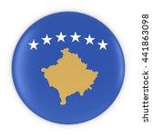 kosovan flag button   flag of... | Shutterstock . vector #441863098