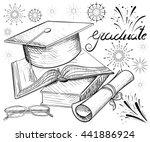 congratulations on graduation ... | Shutterstock .eps vector #441886924
