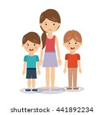 family members design  | Shutterstock .eps vector #441892234