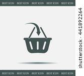 vector shopping basket icon | Shutterstock .eps vector #441892264