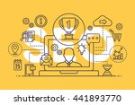 icons seo integrated thin line... | Shutterstock .eps vector #441893770