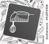 doodle mixer   Shutterstock .eps vector #441895408