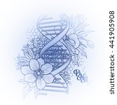 graphic dna structure with... | Shutterstock .eps vector #441905908