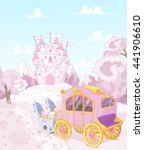 the carriage for true princess... | Shutterstock .eps vector #441906610