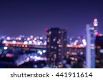abstract urban night light... | Shutterstock . vector #441911614