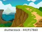 beauty mountain cliff landscape ... | Shutterstock .eps vector #441917860