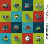 children's toy icons set | Shutterstock .eps vector #441920713