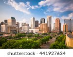 houston  texas  usa downtown... | Shutterstock . vector #441927634
