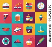 fastfood and drinks icon set | Shutterstock .eps vector #441928150