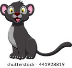 cute black panther posing | Shutterstock .eps vector #441928819