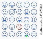 set of emoticons  emoji and... | Shutterstock .eps vector #441928843