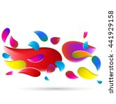colored splashes in abstract... | Shutterstock .eps vector #441929158
