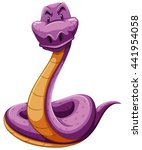 Snake In Purple Color...