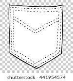 empty back pocket   | Shutterstock .eps vector #441954574