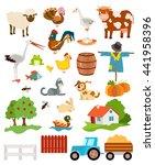 set of farming live animals   Shutterstock . vector #441958396
