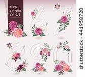 vector illustration of floral... | Shutterstock .eps vector #441958720