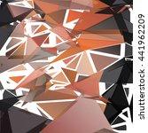 randomly scattered triangles of ... | Shutterstock .eps vector #441962209