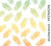 Tropical Leaves  Icon. Summer...