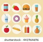 delicius food. food icon set... | Shutterstock .eps vector #441964696