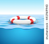 life preserver on water | Shutterstock .eps vector #441969940
