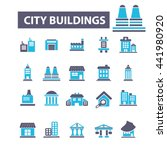 city buildings icons | Shutterstock .eps vector #441980920