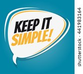 keep it simple retro speech...   Shutterstock .eps vector #441983164