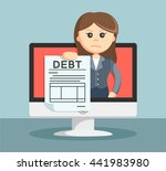 businesswoman shows on the... | Shutterstock .eps vector #441983980