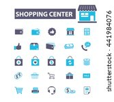 shopping center icons | Shutterstock .eps vector #441984076