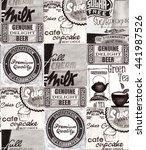 vintage watercolor labels | Shutterstock . vector #441987526