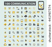 communication icons | Shutterstock .eps vector #441987574