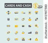 cards and cash icons | Shutterstock .eps vector #441987580