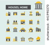houses  home icons | Shutterstock .eps vector #441990370