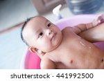 soft focus cute asian male baby ... | Shutterstock . vector #441992500