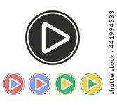 video vector icon. illustration ... | Shutterstock .eps vector #441994333
