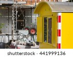 yellow shed on a construction... | Shutterstock . vector #441999136