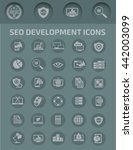seo development icon set vector | Shutterstock .eps vector #442003099