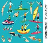 water sport and leasure...   Shutterstock .eps vector #442015099