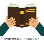 book and hand. reading concept. ... | Shutterstock .eps vector #442018414