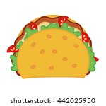 taco icon. fast food design.... | Shutterstock .eps vector #442025950