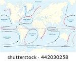 vector world map with major... | Shutterstock .eps vector #442030258