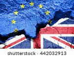 brexit  flags of the united... | Shutterstock . vector #442032913