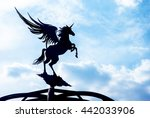metal pegasus decorations on... | Shutterstock . vector #442033906