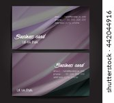 stylish business cards with... | Shutterstock .eps vector #442044916