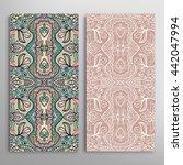 vertical seamless patterns set  ... | Shutterstock .eps vector #442047994
