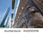 the memorial wall  located at...   Shutterstock . vector #442050598